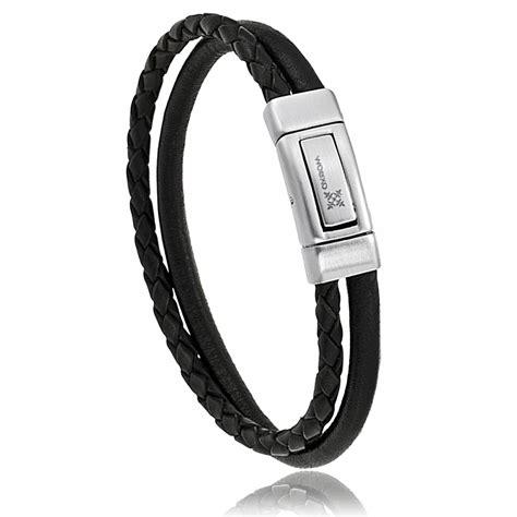 Bracelet Homme Pablol Cuir Noir   Oxbow