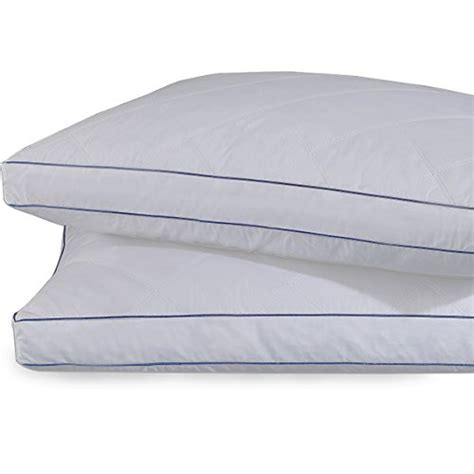 quilted goose and feather down standard pillow in white set of 2 goose feather and down gusset pillows rhombic