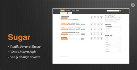 themeforest forum sugar premium vanilla forums themeforest theme html