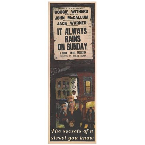 film it always rains on sunday it always rains on sunday british film poster for sale at