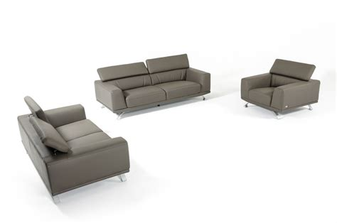 eco leather sofa divani casa brustle modern dark grey eco leather sofa set