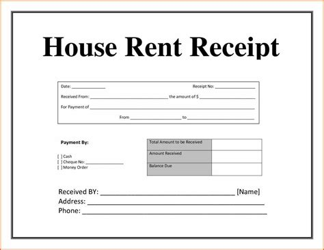 free printable rent receipt template awesome cool resume templates resume templates