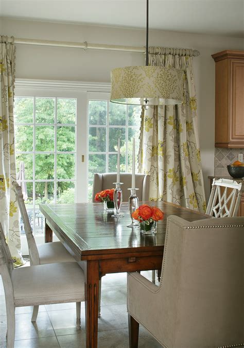 Curtains Dining Room Ideas Startling Sliding Door Curtains Decorating Ideas Images In Dining Room Traditional Design Ideas