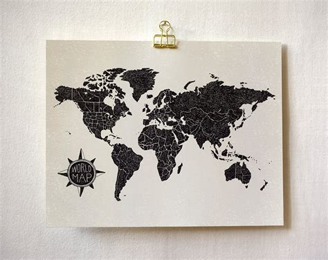 printable poster art world map light art print wit whistle