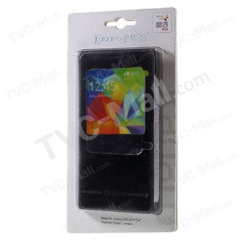 Flip Jell Type Samsung Galaxy S5 G900 kavaro window leather flip battery back cover for samsung