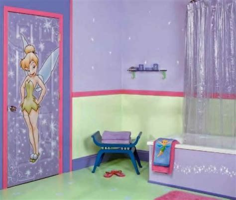 purple walls that look like tinkerbell just flew threw the 25 kids bathroom decor ideas ultimate home ideas