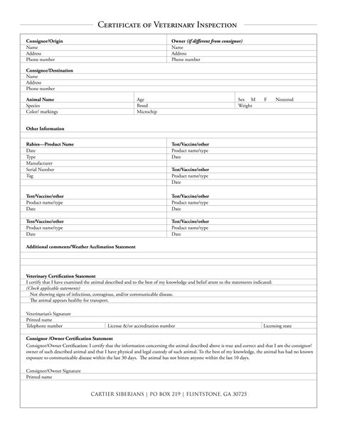 certificate of inspection template new 2015 vet autos post