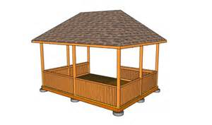 Small Gazebo Plans by Gazebo Plans 14 Diy Ideas To Enjoy Outdoor Living Home