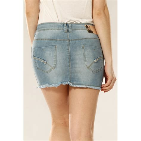 frayed denim mini skirt dress ala