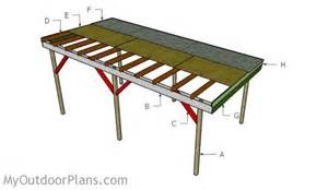 How To Build A Pole Shed For Free by Flat Roof Carport Plans Myoutdoorplans Free Woodworking Plans And Projects Diy Shed Wooden