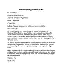 settlement agreement letter template agreement letter templates 10 free templates in pdf