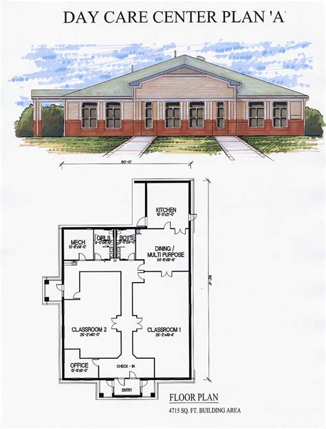 childcare floor plans day care center plan a preschool blueprints pinterest