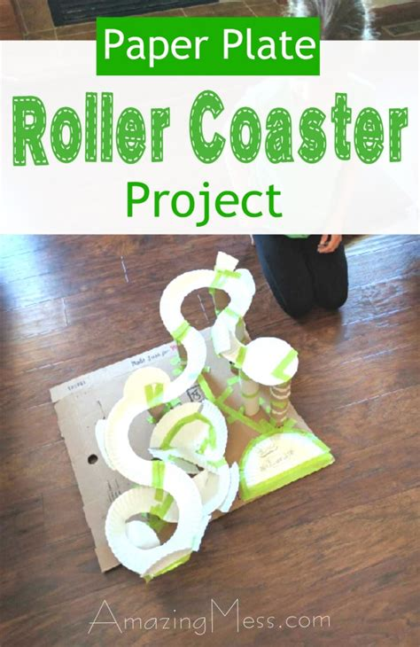 How To Make A Roller Coaster Out Of Paper - roller coaster paper plate toilet paper roll project