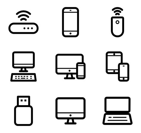 6 computer hardware icon packs   Vector icon packs   SVG