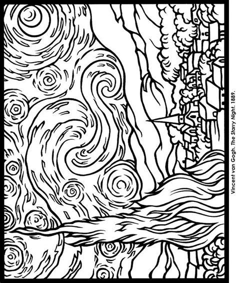 gogh coloring pages vincent gogh coloring page coloring pages la de