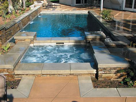 Backyard Rectangle Pools Rectangle Spa And Pool Search Home Sweet Home
