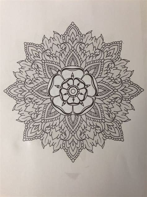 Mandala Tattoo Yorkshire | yorkshire rose tattoo influenced by thomas hooper and