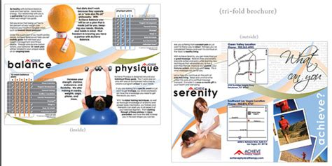 Inspiring Tri Fold Brochure Design Exles Physical Therapy Brochure Templates