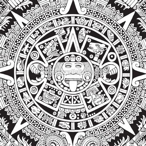 imagenes de aztecas blanco y negro calendario azteca para dibujar imagui