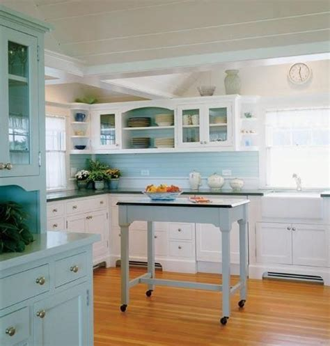 White And Blue Kitchen Cabinets Something Blond Blue Kitchens