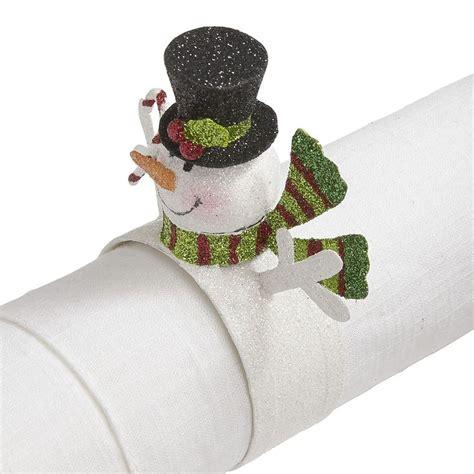 napkin rings table linens snowman napkin ring winter