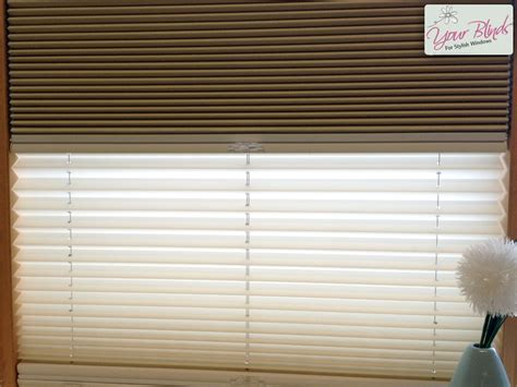 Pleated Blinds Pleated Blinds Combine Two Blind Fabrics In One Frame
