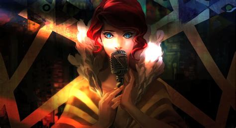 transistor wallpaper transistor supergiant artsy things gaming and fan service