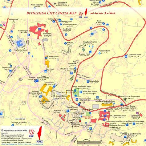 bethlehem jerusalem map map of bethlehem 5 tourists in israel