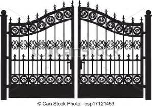 Swing Arbor Plans clipart vector of openwork steel gate openwork leaf