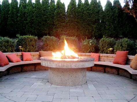 Outdoor fire pit   Picture of Stone House, Warren