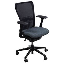 haworth zody used task chair gray circle pattern