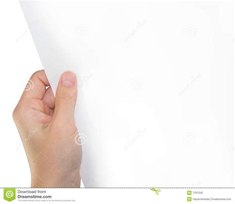 How To Make Paper Holding - holding white paper stock photography image 7331042