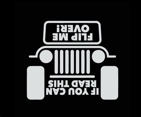 jeep stickers jeep if you can read this flip me decal sticker