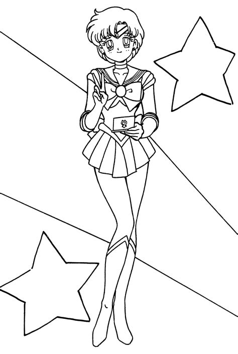 Sailor Mercury Coloring Pages free sailor mercury coloring pages