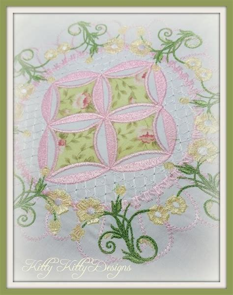 Mock Cathedral Window Quilt Pattern by Heirloom Mock Cathedral Windows Quilt 6x6 Pixies Rule