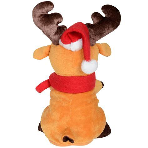 animated plush musical reindeer boogie christmas decoration