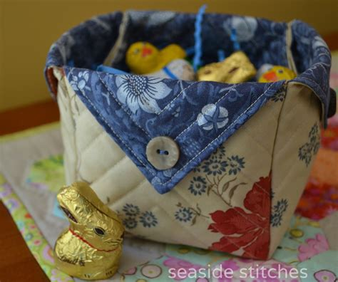 pattern fabric boxes seaside stitches fabric box eggs and snow