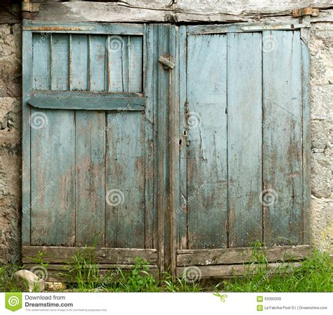 Blue Barn Door Blue Barn Door Stock Photo Image 63390309