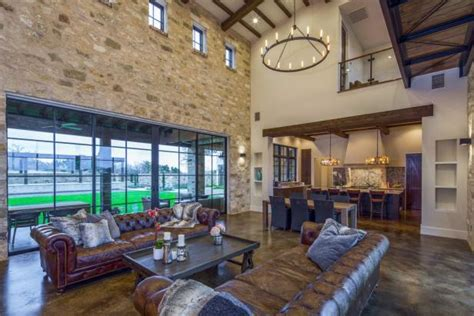 contemporary italian farmhouse living room hgtv