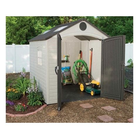Lifetime Outdoor Storage Shed Lifetime 8x7 5 Ft Plastic Outdoor Storage Shed Kit 60015