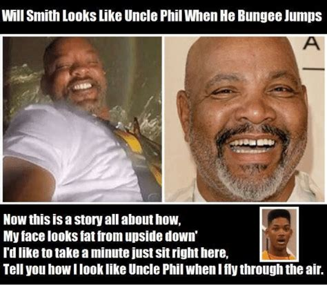 Uncle Phil Meme - will smith lookslike uncle phil when he bungee jumps now