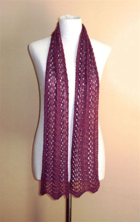knit lace scarf instant knitting pattern lace fan scarf lace