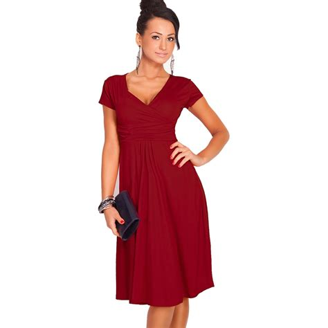 Dress Kerja Stylish New Impor dresses summer casual new fashion sale v neck sleeve dresses size s m l xl