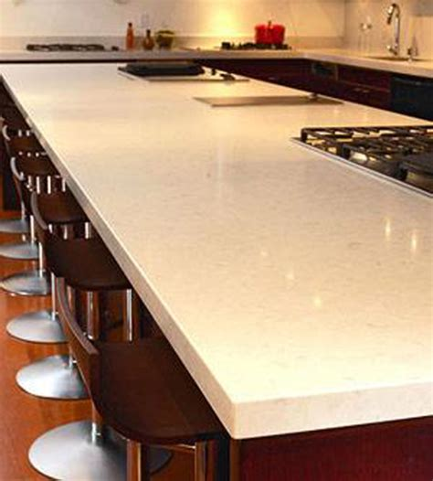 Solid White Quartz Countertops by Mister Cabinet