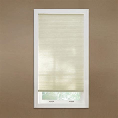 jcpenney home cut to width light filtering cordless cellular shade home decorators collection shadow white 9 16 in blackout