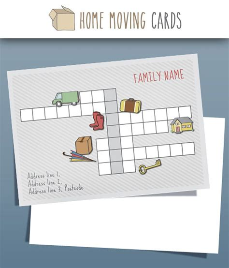 cards that move templates 7 best ideas about change of address cards templates on