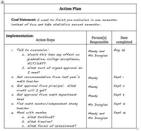 advocacy strategy template self advocacy for gifted plan for high schoolers