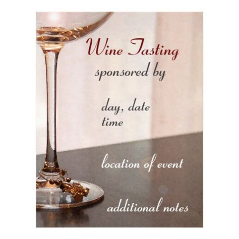 Unique Invitation Flyer Templates And Designs Wine Tasting Event Flyer Template Free