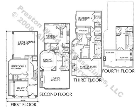 luxury townhome floor plans 25 genius luxury townhouse designs home building plans 10962