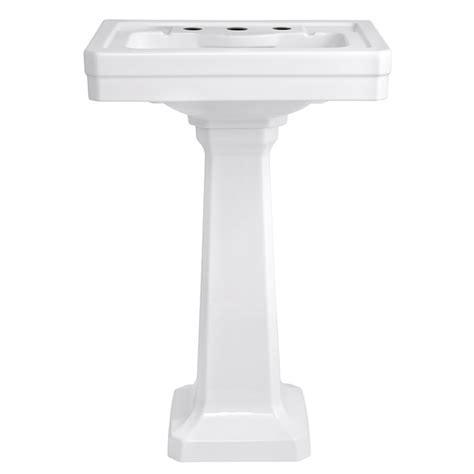 Fitzgerald 24 inch Pedestal Sink   Three Hole   DXV
